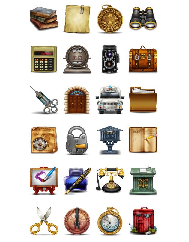 free vintage icons