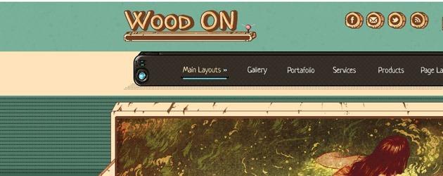 Wood on_Template