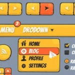 Gaming and Cartoon GUI Pack: A great set of cartoony PSD elements
