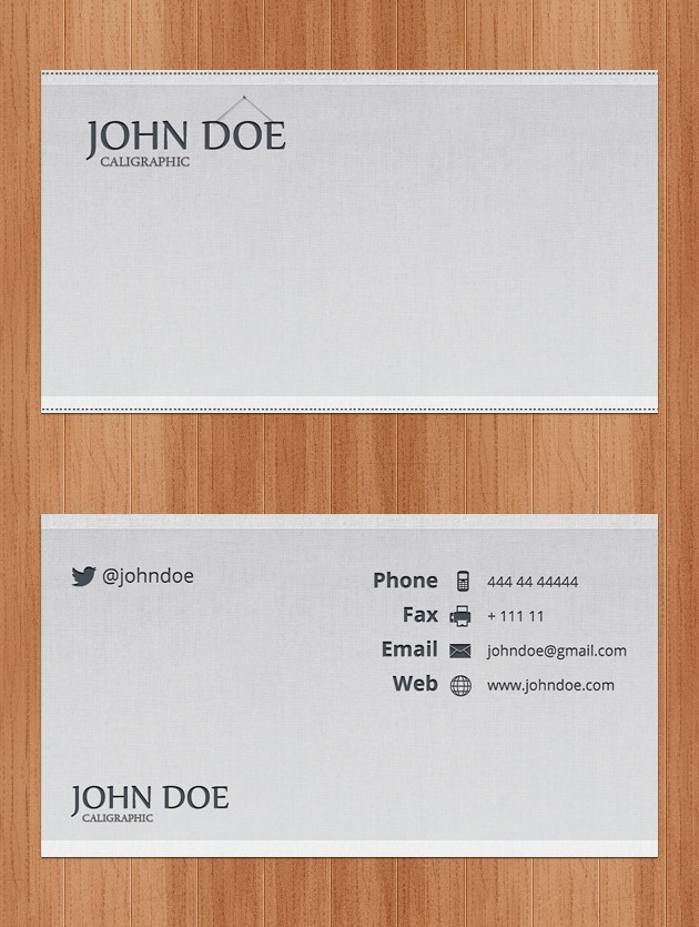 Company card design