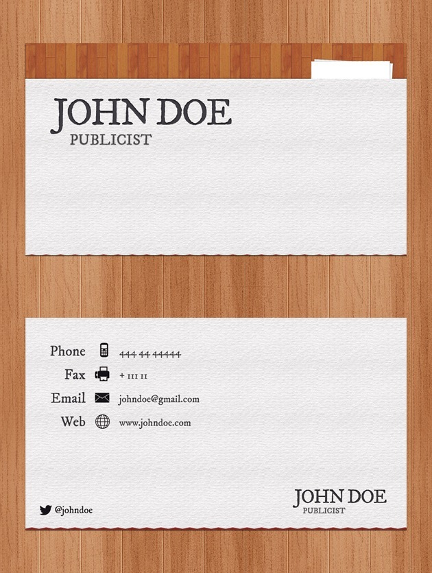 Company card vector