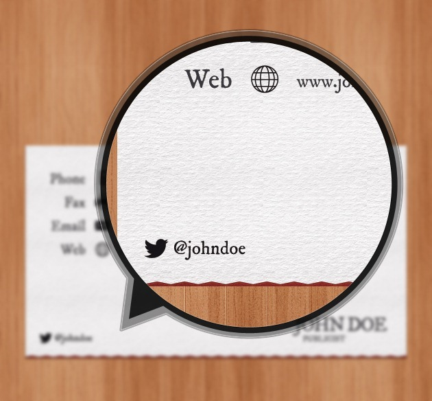 Minimalist Business card PSD