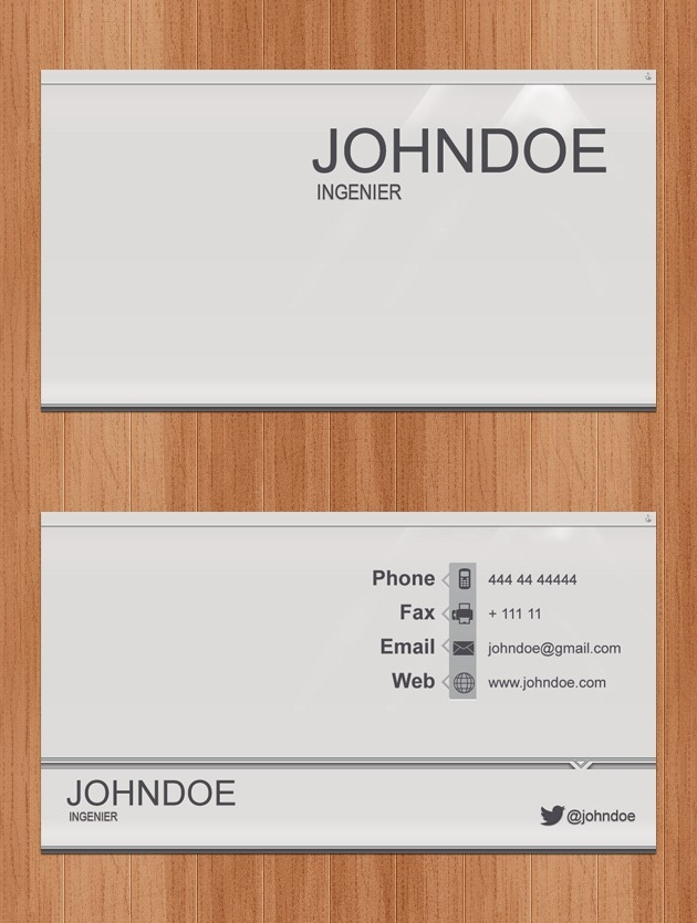 Business card Pixel perfect