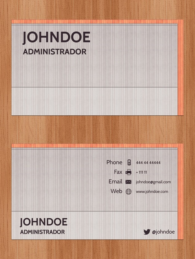 Company card Pixel perfect