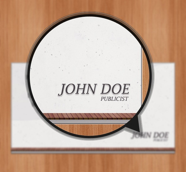 Minimalist Business card graphic