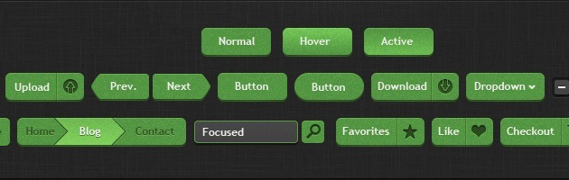 web Buttons vector