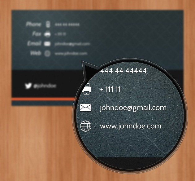 Minimalist Business card Professional