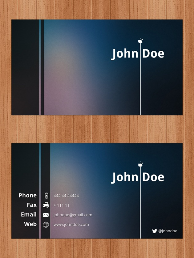 Business Cards PSD - Free business cards templates photoshop