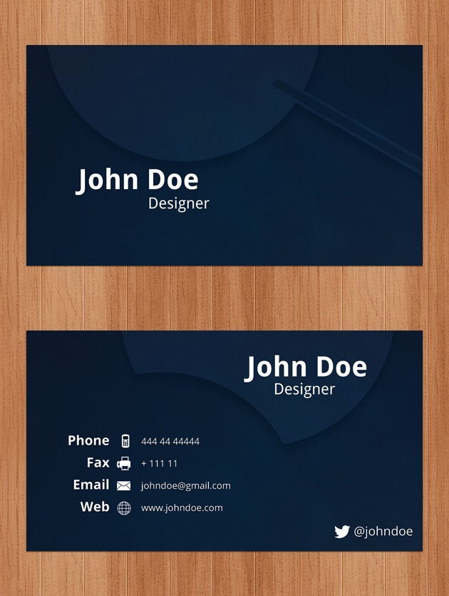 Business cards psd nice company card psd wajeb