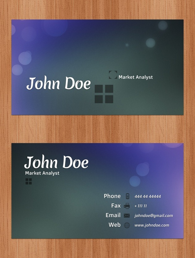 Nice Company card Photoshop