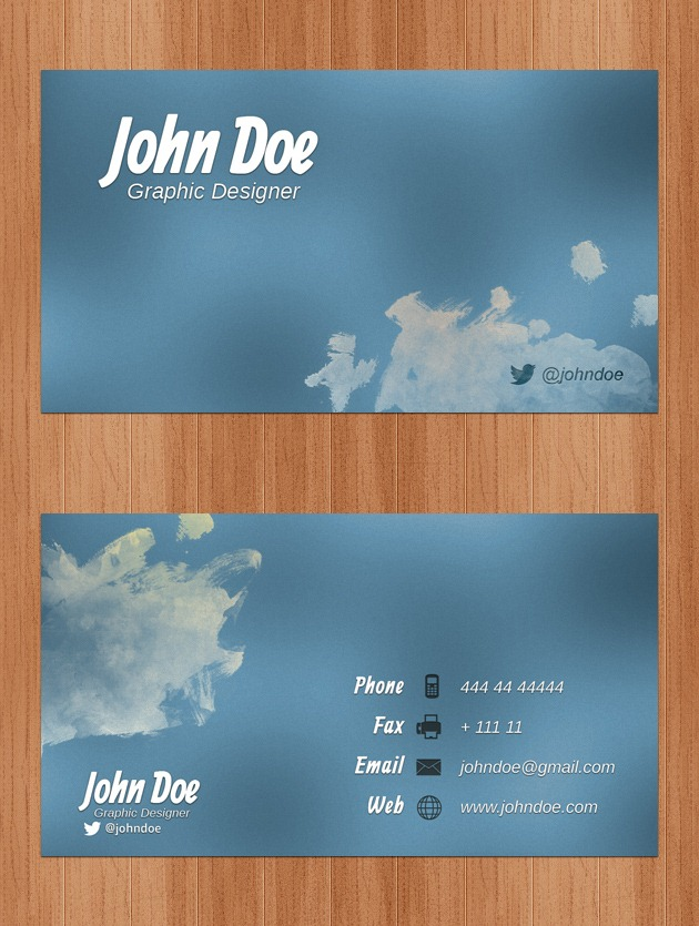 Company card Photoshop