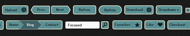 web Buttons design