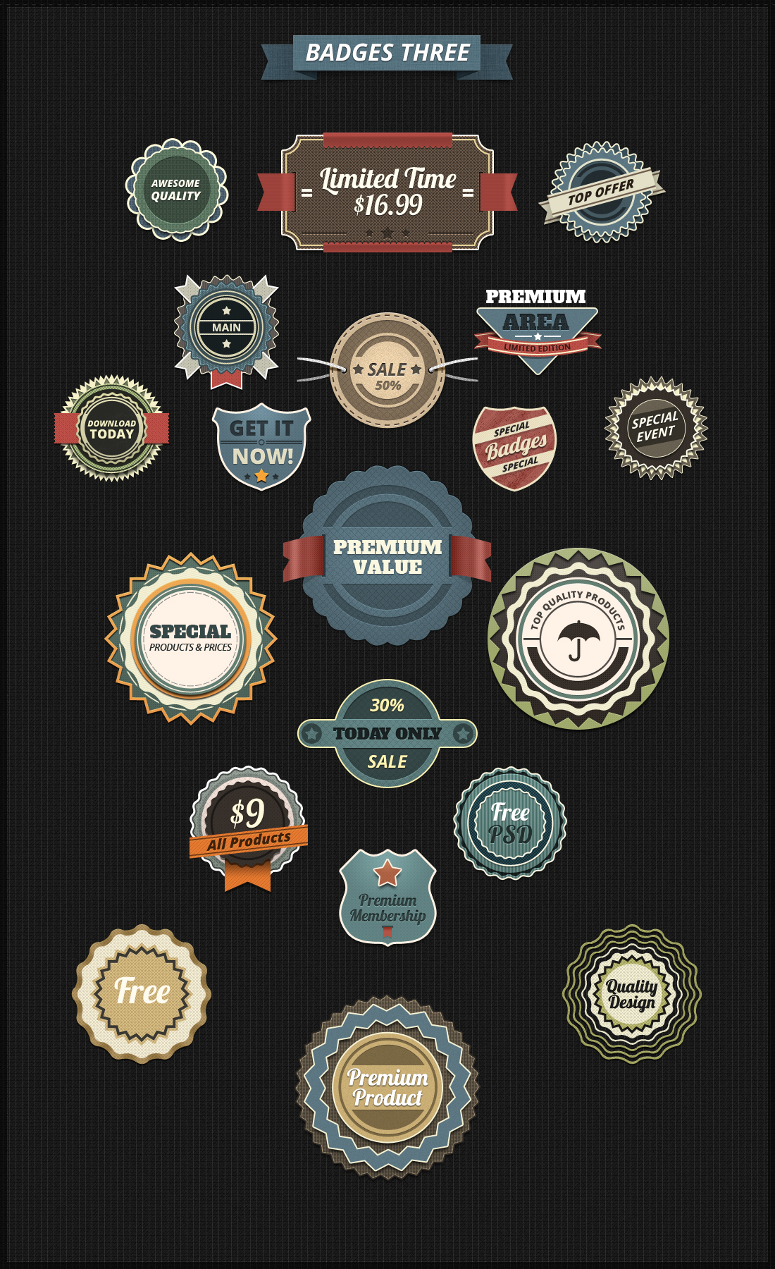 psd badges