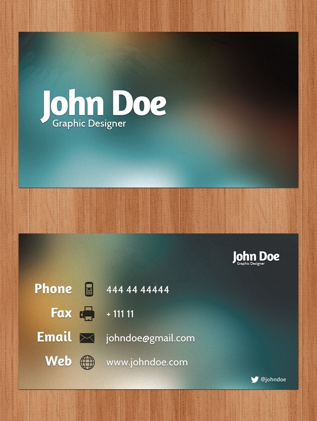 Business cards psd nice business card template flashek