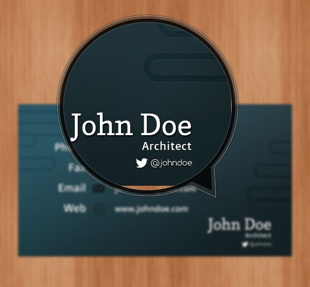 Minimalist Company card Pixel perfect