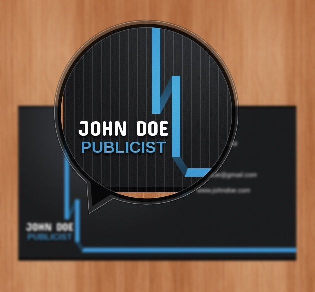 Business card graphic