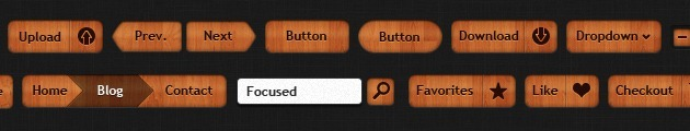 web design Buttons style