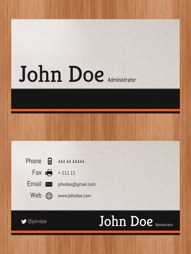Nice Business card Pixel perfect