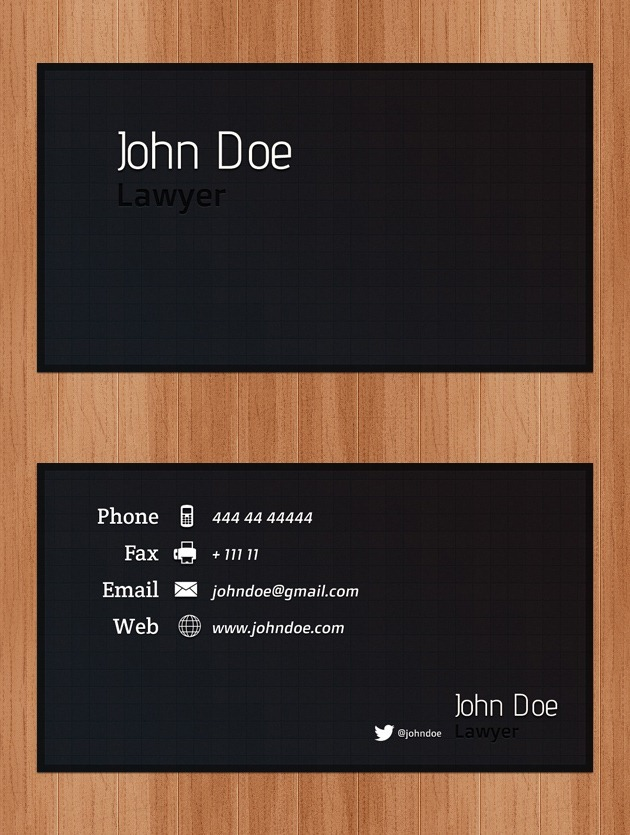 Cool Business card set