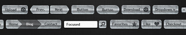web design Buttons kit