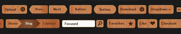 web design Buttons Wood