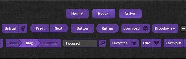 web design Buttons Pack