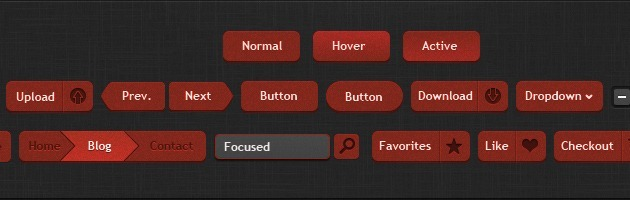 web design Buttons PSD