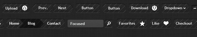Web Awesome Buttons PSD