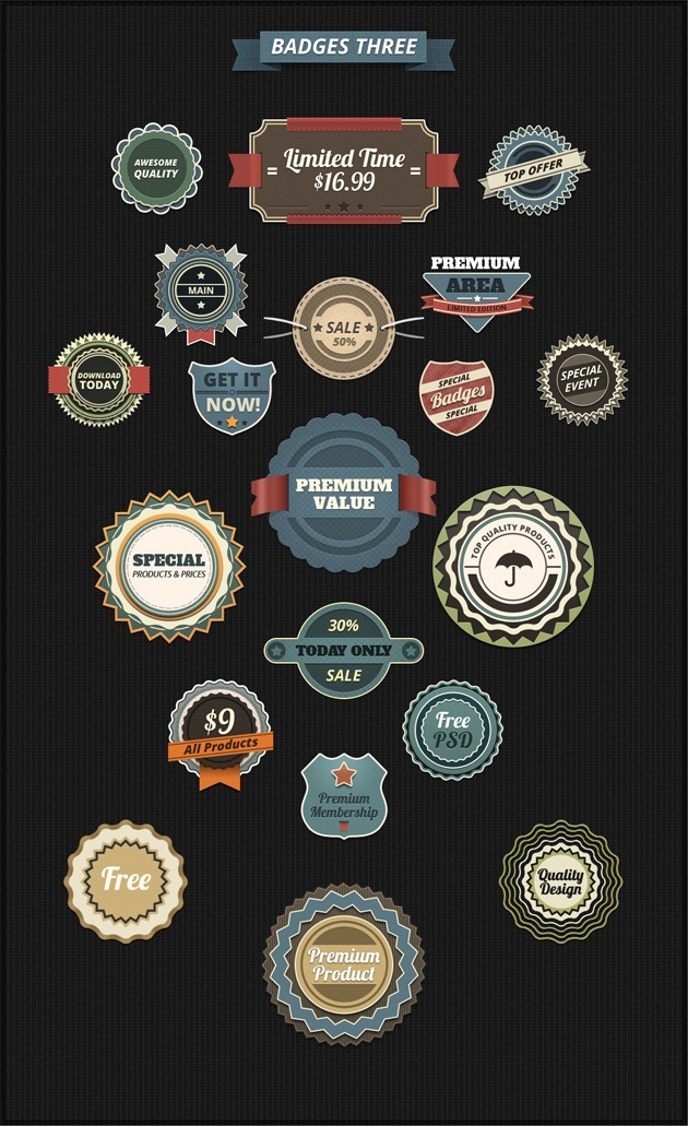 Badges design template
