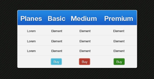Bootstrap pricing tables for Table design css bootstrap