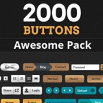 The most impressive button pack ever: 2000 buttons, 100 design styles, 7 color variations