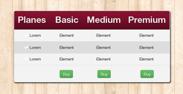 Bootstrap pricing tables - Table design in html with css ...