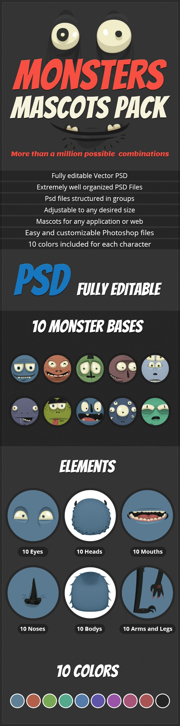 Monster Mascots Pack