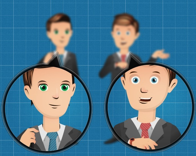 cartoon business character template