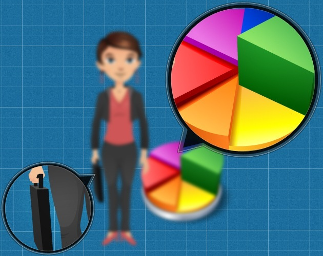 Business characters vector