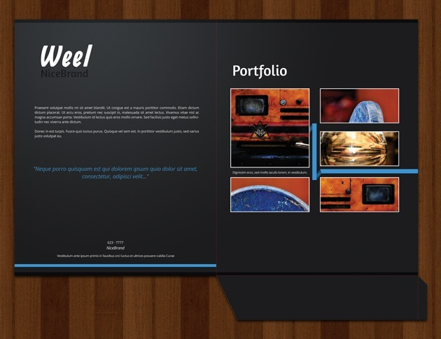 web design folder cover