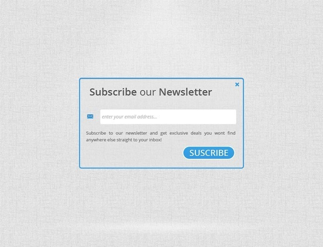 Clear Subscribe form