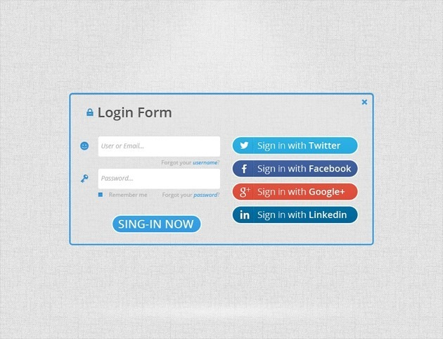 Clear Login form