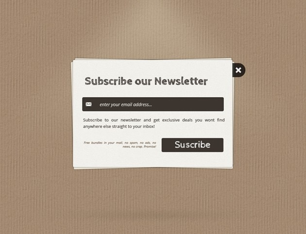 Minimalist Subscribe form