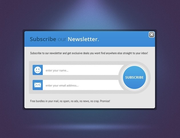 Nice Subscribe form