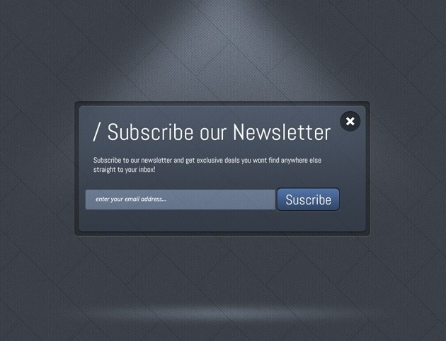 Dark Subscribe form