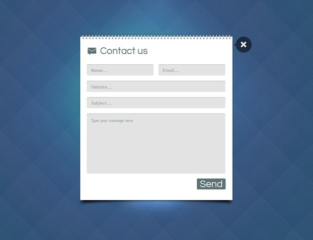 Book Contact form