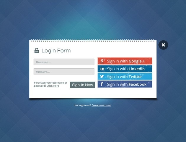Book Login form