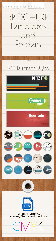 Brochure folders templates