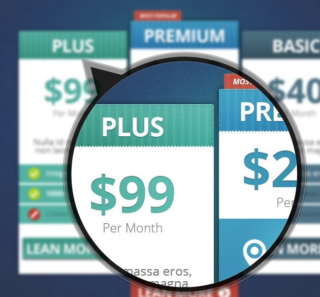 web design pricing list template