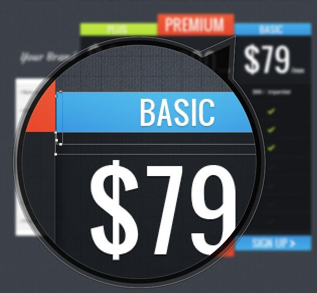 web design pricing table graphic