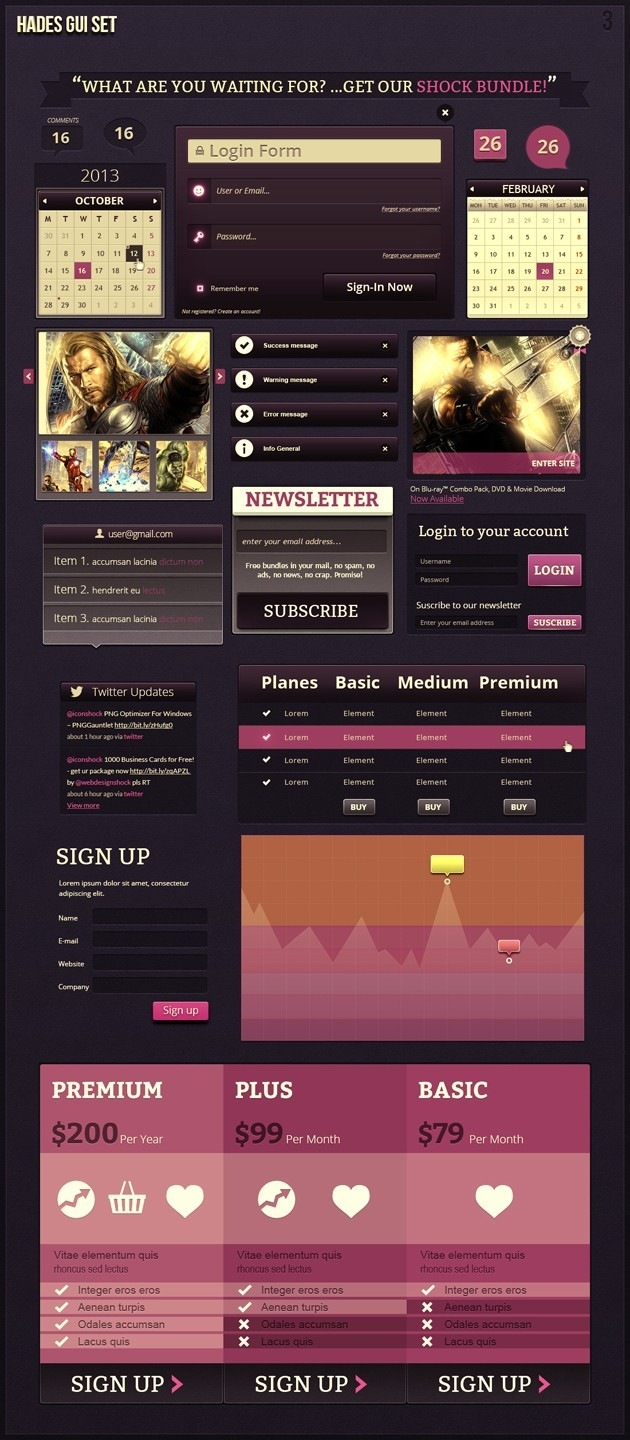 web gui template