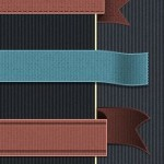 Mega Ribbons Pack: 100 different ribbon styles, 30 color variation, with sources in PSD