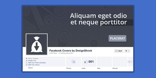 Minimalist Facebook Cover template