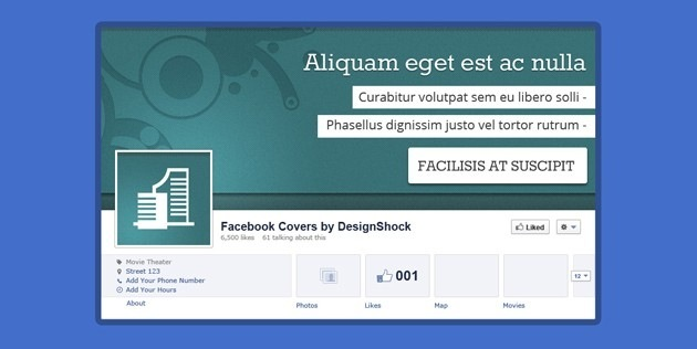 Photoshop Facebook Cover template